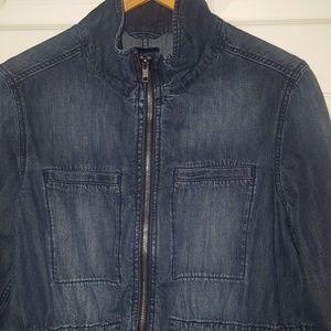 Gap zippered denim anorak jacket